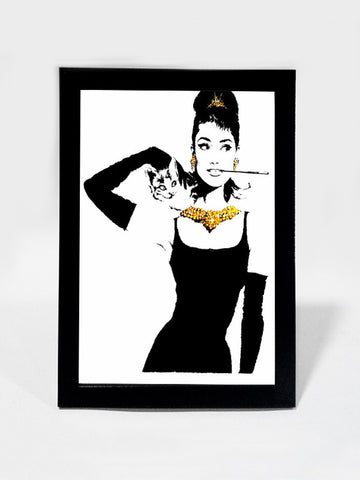 Framed Art, Audrey Hepburn  Black & Gold | Framed Art, - PosterGully