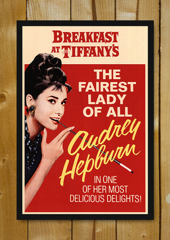 Glass Framed Posters, Audrey Hepburn Delicious Delights Glass Framed Poster, - PosterGully - 1