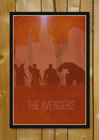 Glass Framed Posters, Avengers Splattered Strokes Glass Framed Poster, - PosterGully - 1