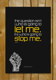 Glass Framed Posters, Ayn Rand Quote Glass Framed Poster, - PosterGully - 1