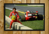 Glass Framed Posters, Ayrton Sena Formula One Glass Framed Poster, - PosterGully - 1