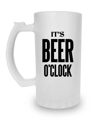 Beer Mugs, Beer O'Clock - Frosted Beer Mug, - PosterGully
