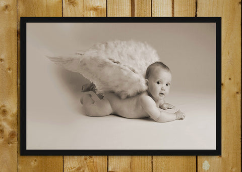 Glass Framed Posters, Baby Angel Glass Framed Poster, - PosterGully - 1