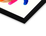 Glass Framed Posters, Baby Colourful Hands Glass Framed Poster, - PosterGully - 2