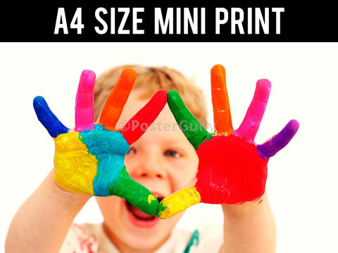 Mini Prints, Baby | Colourful Hands | Mini Print, - PosterGully