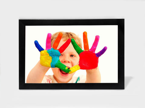 Framed Art, Baby Colourful Hands | Framed Art, - PosterGully