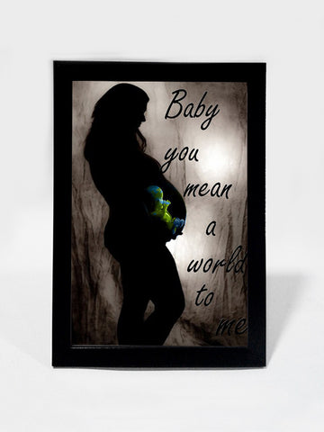Framed Art, Baby Mean A World To Mom | Framed Art, - PosterGully