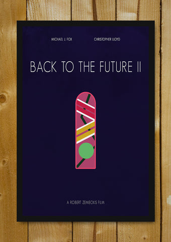 Glass Framed Posters, Back To The Future Minimal Art Glass Framed Poster, - PosterGully - 1