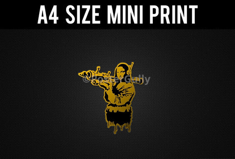 Mini Prints, Banksy | Mona Lisa | Mini Print, - PosterGully