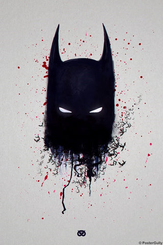 PosterGully Specials, Batman Artwork Minimal Design, - PosterGully