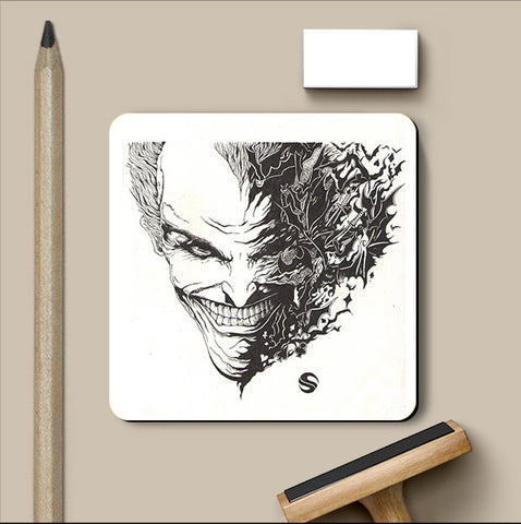 PosterGully Coasters, Batman Joker Abstract Coaster | Artist: Shyam Zawar, - PosterGully