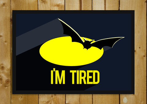 Glass Framed Posters, Batman Tired Humour Glass Framed Poster, - PosterGully - 1