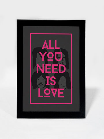 Framed Art, Beatles All You Need Is Love | Framed Art, - PosterGully