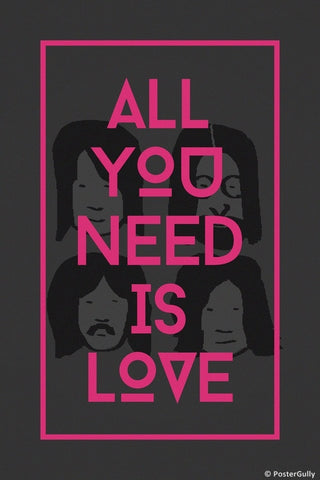 Wall Art, Beatles All You Need Is Love, - PosterGully