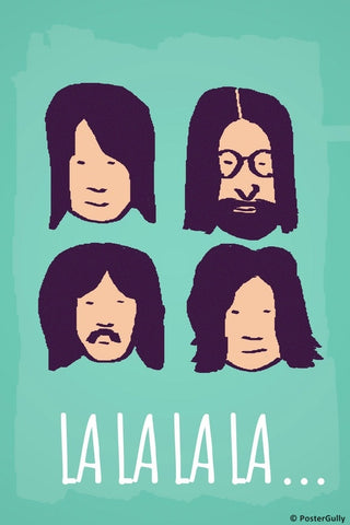 Wall Art, Beatles La La La Green, - PosterGully