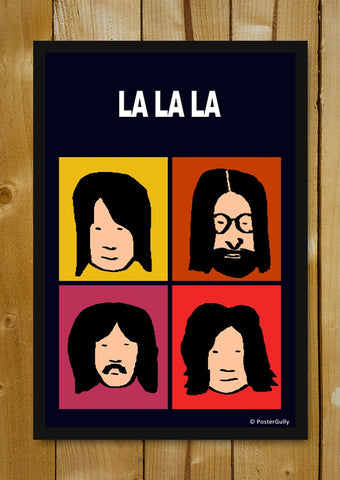 Glass Framed Posters, Beatles La La La Pop Art | Glass Framed Poster, - PosterGully - 1