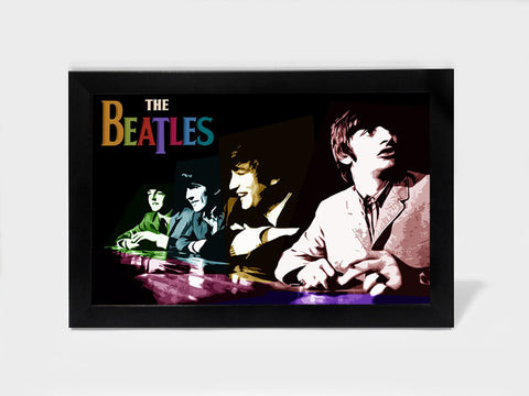 Framed Art, Beatles Multicolour Collage | Framed Art, - PosterGully
