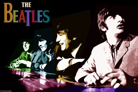 Wall Art, Beatles Multicolour Collage, - PosterGully