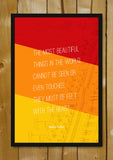 Glass Framed Posters, Beautiful Things Helen Keller Writer Glass Framed Poster, - PosterGully - 1