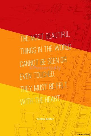 Wall Art, Beautiful Things | Helen Keller | Writer, - PosterGully