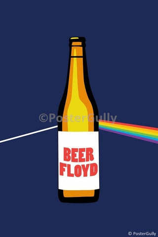 Wall Art, Beer Floyd | Pink Floyd Humour, - PosterGully