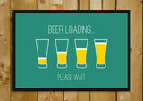 Glass Framed Posters, Beer Loading Humour Glass Framed Poster, - PosterGully - 1