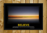 Glass Framed Posters, Believe Motivational Glass Framed Poster, - PosterGully - 1