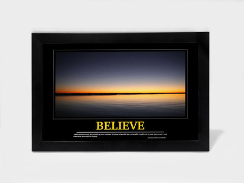 Framed Art, Believe Motivational | Framed Art, - PosterGully