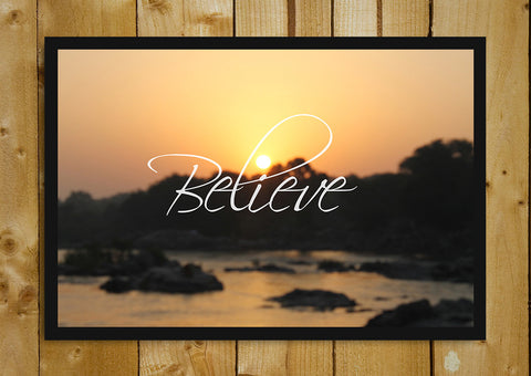 Glass Framed Posters, Believe The Sunshine Glass Framed Poster, - PosterGully - 1