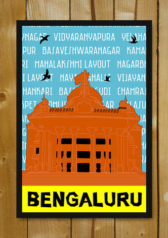 Glass Framed Posters, Bengaluru Pop Art Bangalore Glass Framed Poster, - PosterGully - 1