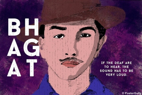 Wall Art, Bhagat Singh | Quote | Loud, - PosterGully