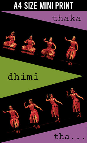 Mini Prints, Bharatanatyam Dance Steps | Mini Print, - PosterGully