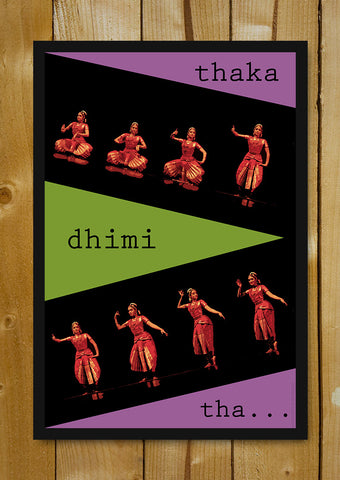 Glass Framed Posters, Bharatanatyam Dance Steps Glass Framed Poster, - PosterGully - 1