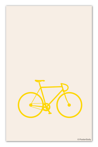 Wall Art, Bicycle Minimal Art, - PosterGully