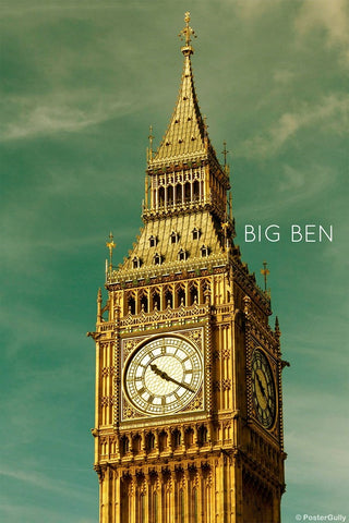 Wall Art, Big Ben Tower Sky | London, - PosterGully