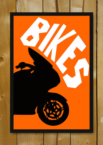 Glass Framed Posters, Bike Pop Art Glass Framed Poster, - PosterGully - 1
