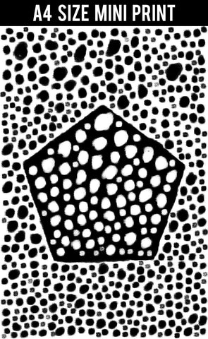 Mini Prints, Black And White Dots Abstract | Mini Print, - PosterGully