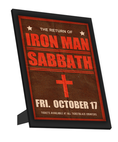 Framed Art, Black Sabbath | Iron Man | Concert Framed Art, - PosterGully