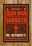 Glass Framed Posters, Black Sabbath Iron Man Concert Glass Framed Poster, - PosterGully - 1