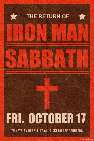 Wall Art, Black Sabbath | Iron Man | Concert, - PosterGully