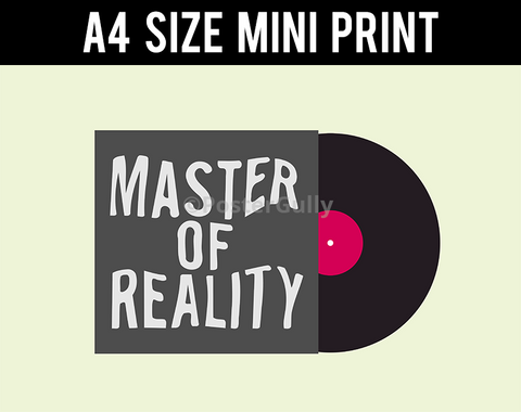 Mini Prints, Black Sabbath Master Of Reality | Album Cover | Mini Print, - PosterGully