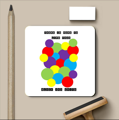 PosterGully Coasters, Black & White Coaster | Artist: Shravya Gunipudi, - PosterGully