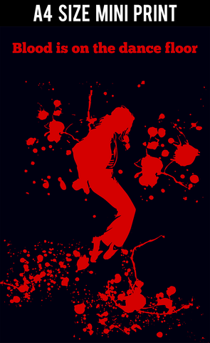 Mini Prints, Blood Michael Jackson Dance MoonWalk | Mini Print, - PosterGully