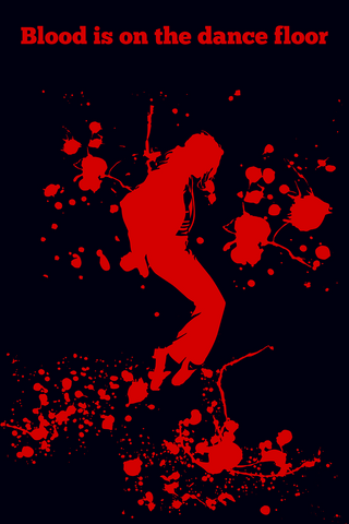 Wall Art, Blood Michael Jackson Dance MoonWalk, - PosterGully