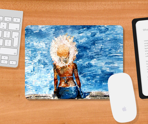 Mousepads, Blue Sea & Beauty Mousepad | Artist: Sunanda Puneet, - PosterGully