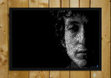 Glass Framed Posters, Bob Dylan Artwork Glass Framed Poster, - PosterGully - 1