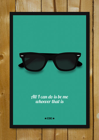 Glass Framed Posters, Bob Dylan Minimal Glasses Glass Framed Poster, - PosterGully - 1