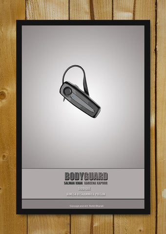 Glass Framed Posters, Bodyguard Minimal Bollywood Art Glass Framed Poster, - PosterGully - 1