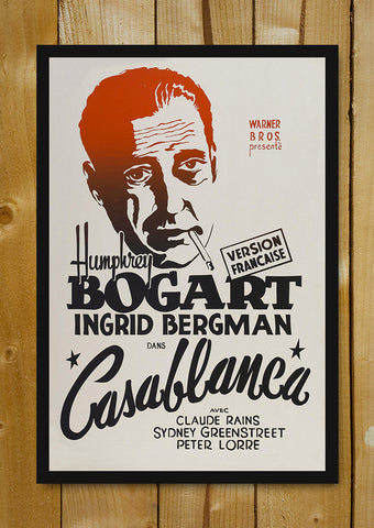 Glass Framed Posters, Bogart In Casablanca Glass Framed Poster, - PosterGully - 1