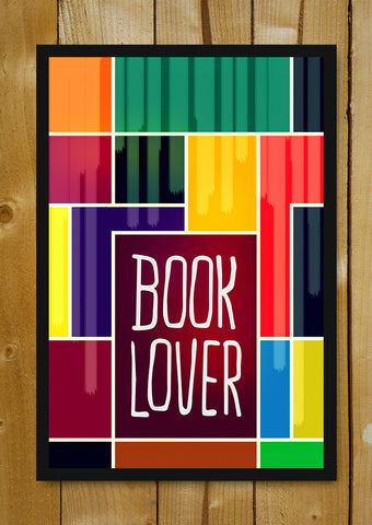 Glass Framed Posters, Book Lover Pop Art Glass Framed Poster, - PosterGully - 1